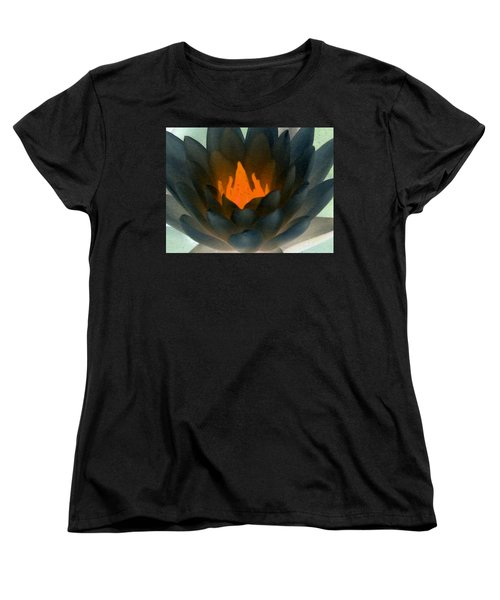 Women's T-Shirt (Standard Cut) featuring the photograph The Water Lilies Collection - Photopower 1038 by Pamela Critchlow