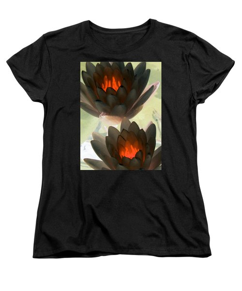 Women's T-Shirt (Standard Cut) featuring the photograph The Water Lilies Collection - Photopower 1042 by Pamela Critchlow