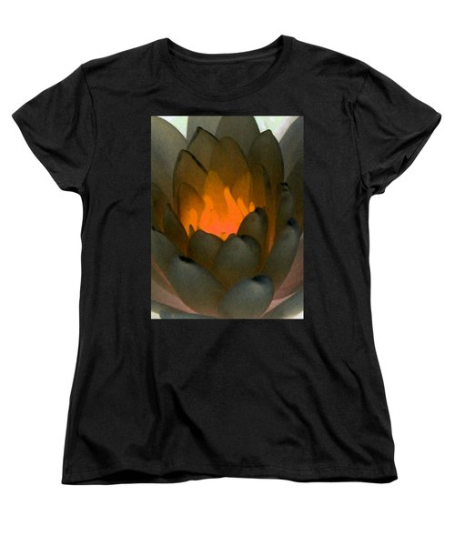 Women's T-Shirt (Standard Cut) featuring the photograph The Water Lilies Collection - Photopower 1043 by Pamela Critchlow