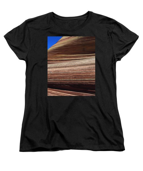 'the Wave' North Coyote Buttes 06 Women's T-Shirt (Standard Cut) by Jeff Brunton