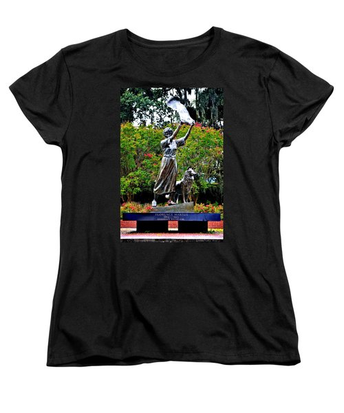 The Waving Girl Of Savannah Women's T-Shirt (Standard Cut) by Tara Potts