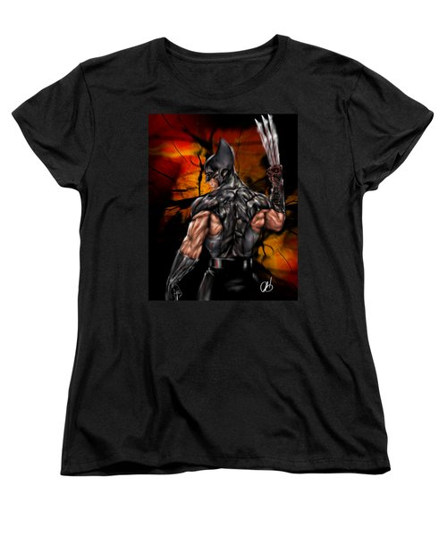 The Wolverine Women's T-Shirt (Standard Cut) by Pete Tapang