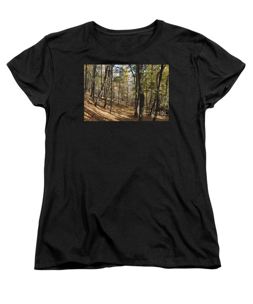 Women's T-Shirt (Standard Cut) featuring the photograph The Woods by William Norton