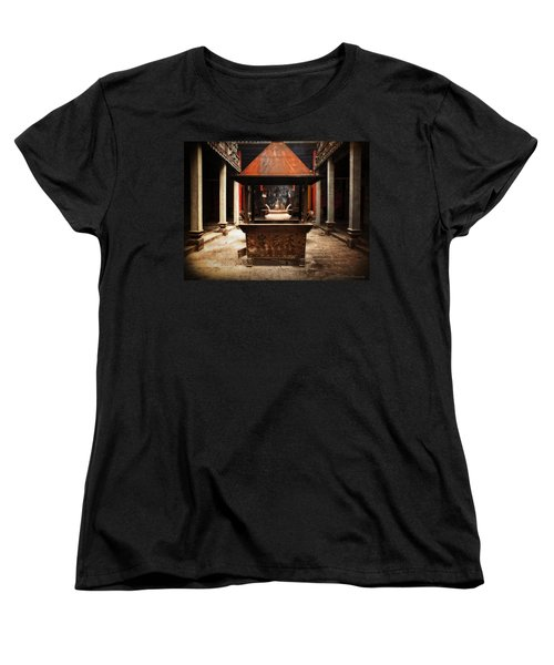 Women's T-Shirt (Standard Cut) featuring the photograph Thien Hau Temple  by Lucinda Walter