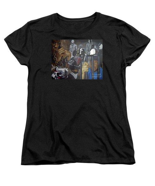 Think Black Man Women's T-Shirt (Standard Cut) by Chelle Brantley