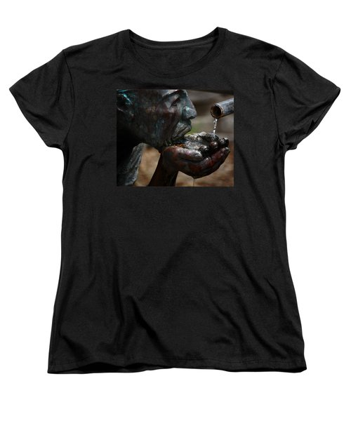 Women's T-Shirt (Standard Cut) featuring the photograph Thirst Quencher by Leticia Latocki