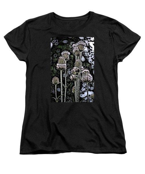 Women's T-Shirt (Standard Cut) featuring the digital art Thistle  by David Lane