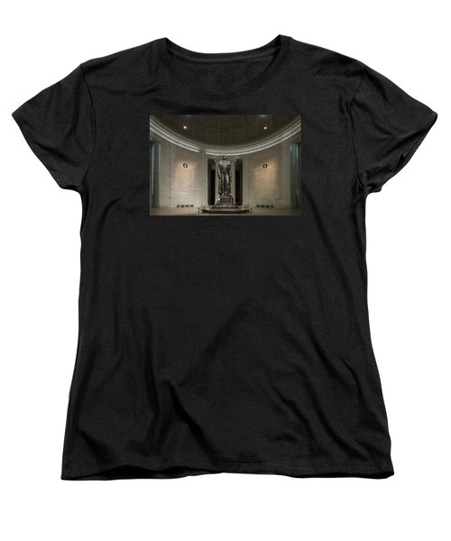 Thomas Jefferson Memorial At Night Women's T-Shirt (Standard Cut) by Sebastian Musial