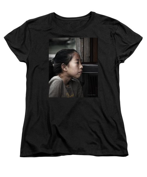 Women's T-Shirt (Standard Cut) featuring the photograph Thoughts by Lucinda Walter