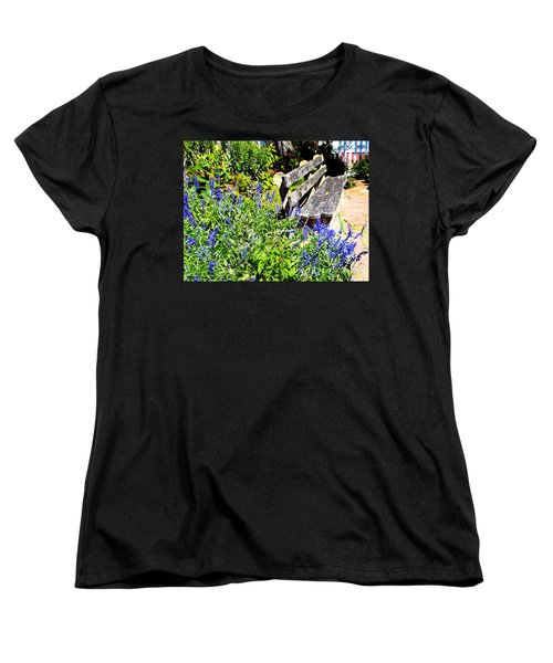 Thoughts On The Weathered Bench Women's T-Shirt (Standard Cut) by Pamela Hyde Wilson
