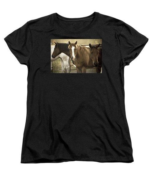 Women's T-Shirt (Standard Cut) featuring the photograph Three Amigos by Steven Bateson