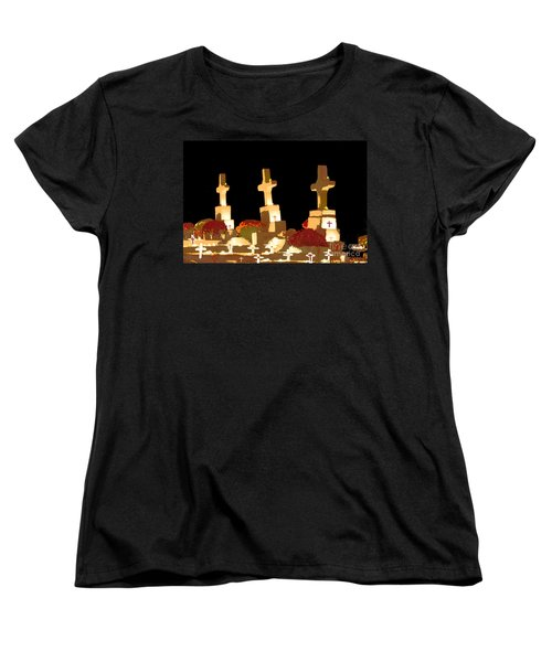 Women's T-Shirt (Standard Cut) featuring the photograph Louisiana Artistic Cemetery by Luana K Perez