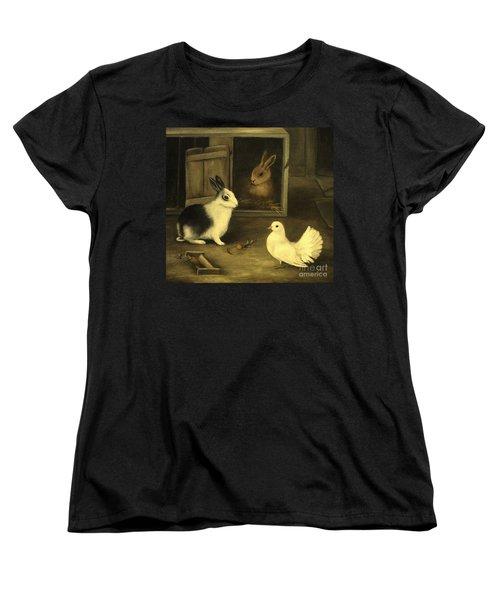 Three Friends Sharing A Moment Women's T-Shirt (Standard Cut) by Hazel Holland