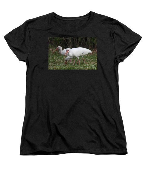 Three Ibis Together Women's T-Shirt (Standard Cut) by Christiane Schulze Art And Photography