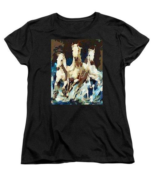 Three Lipizzans Women's T-Shirt (Standard Cut)