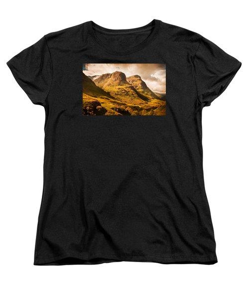 Three Sisters. Glencoe. Scotland Women's T-Shirt (Standard Cut) by Jenny Rainbow