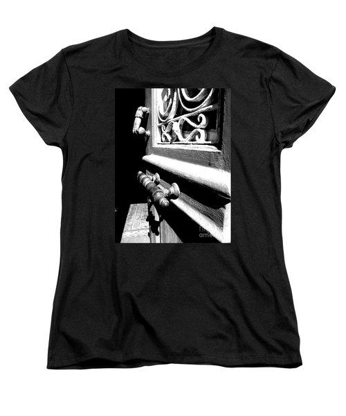 Women's T-Shirt (Standard Cut) featuring the photograph Through An Open Door Into Darkness by Vicki Spindler