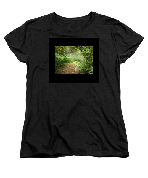 Women's T-Shirt (Standard Cut) featuring the photograph Through The Forest At Water's Edge by Absinthe Art By Michelle LeAnn Scott