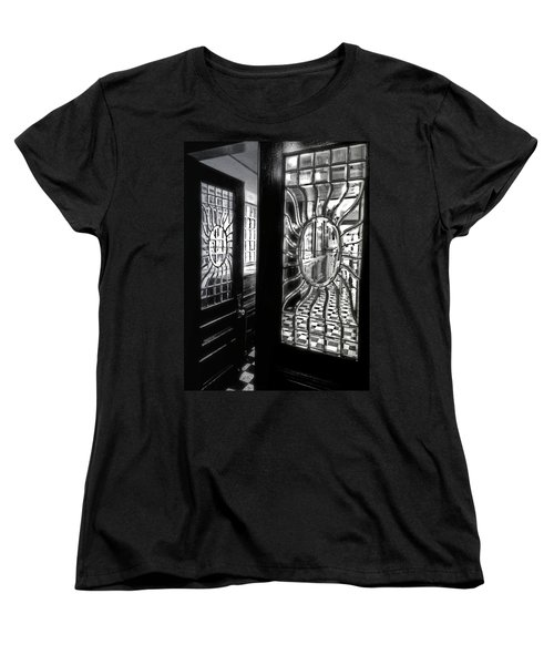 Through The Lookinglass And Onto The Checkerboard Women's T-Shirt (Standard Cut) by Robert McCubbin