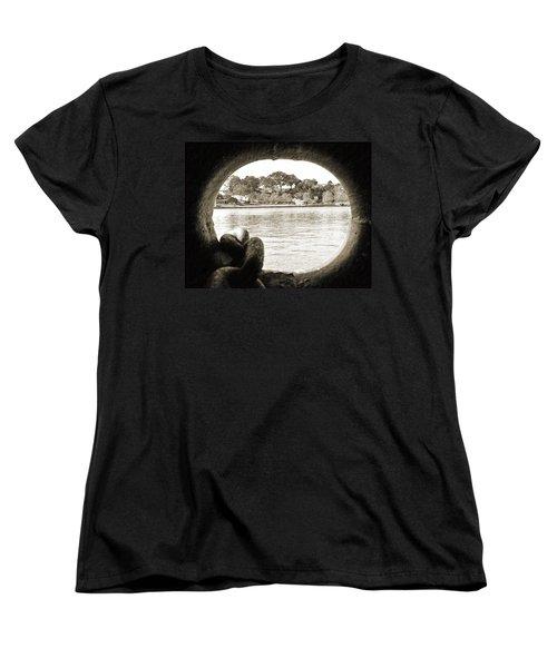 Through The Porthole Women's T-Shirt (Standard Cut) by Holly Blunkall