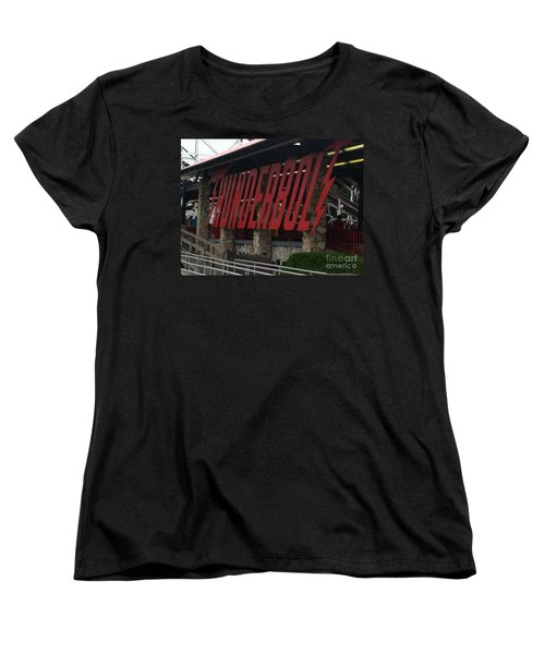 Thunderbolt Roller Coaster Women's T-Shirt (Standard Cut) by Michael Krek