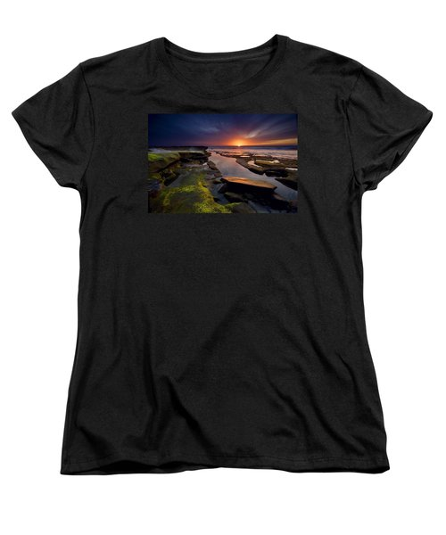 Tidepool Sunsets Women's T-Shirt (Standard Cut) by Peter Tellone