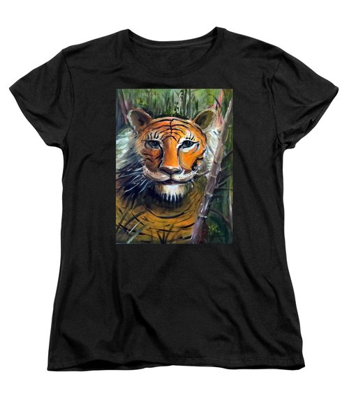 Tiger Women's T-Shirt (Standard Cut) by Bernadette Krupa