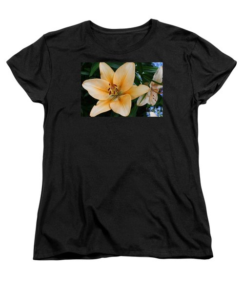 Women's T-Shirt (Standard Cut) featuring the photograph Tiger Lily by Dora Sofia Caputo Photographic Art and Design