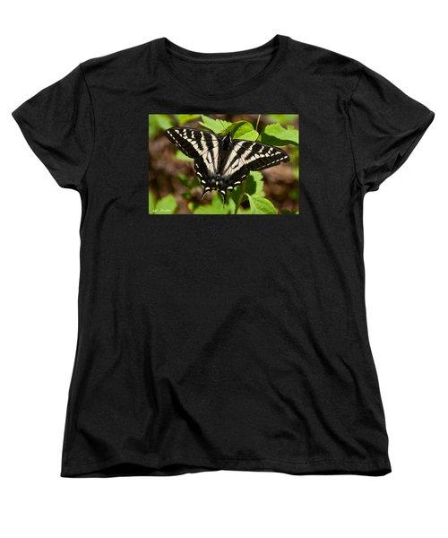 Tiger Swallowtail Butterfly Women's T-Shirt (Standard Cut) by Jeff Goulden