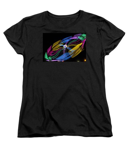 Women's T-Shirt (Standard Cut) featuring the photograph Tilt A Whirl by Steven Bateson
