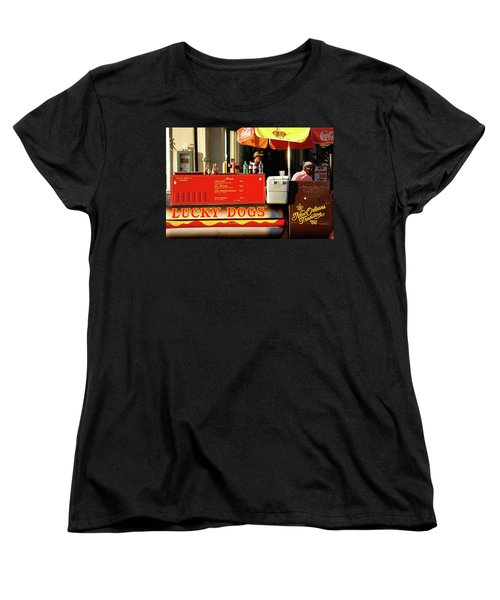 Women's T-Shirt (Standard Cut) featuring the photograph Time For A Lucky Dog by KG Thienemann
