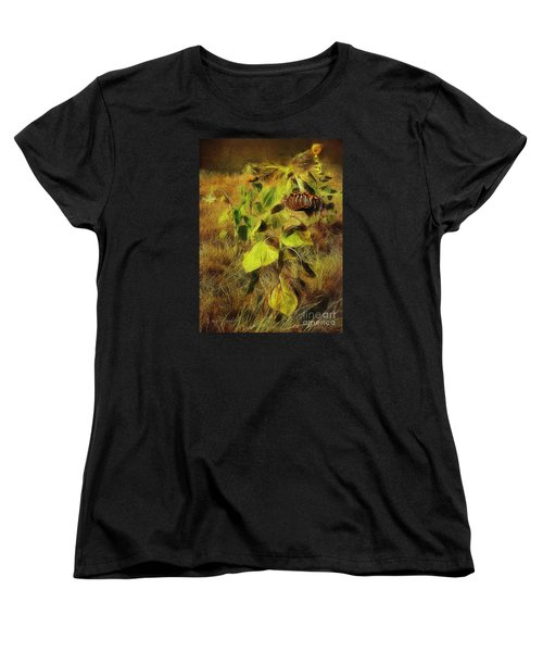 Women's T-Shirt (Standard Cut) featuring the digital art Time Is The Enemy by Rhonda Strickland