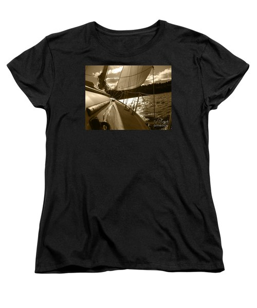 Time To Jibe  Women's T-Shirt (Standard Cut) by Kym Backland
