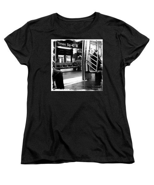 Women's T-Shirt (Standard Cut) featuring the photograph Times Square - 42nd St by James Aiken