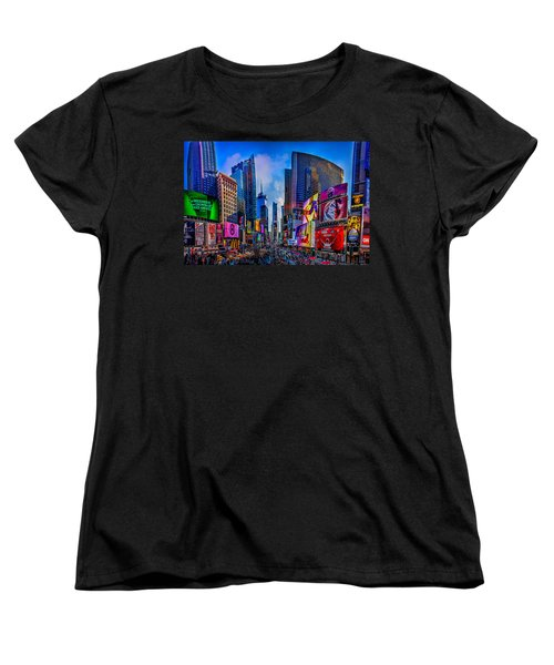 Times Square Women's T-Shirt (Standard Cut) by Chris Lord