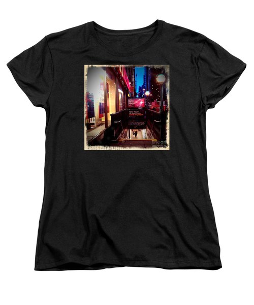 Women's T-Shirt (Standard Cut) featuring the photograph Times Square Station by James Aiken
