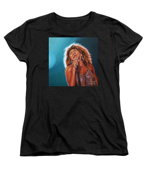 Tina Turner 3 Women's T-Shirt (Standard Cut) by Paul Meijering