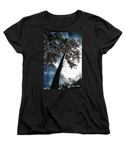 Women's T-Shirt (Standard Cut) featuring the photograph Tippy Top Tree II Art by Lesa Fine