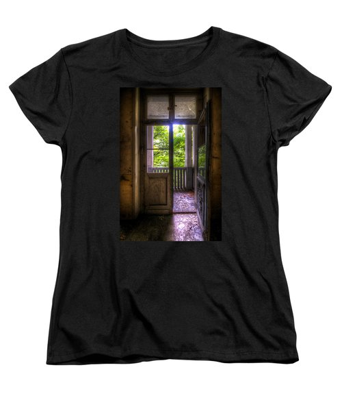 To The Balcony  Women's T-Shirt (Standard Cut) by Nathan Wright