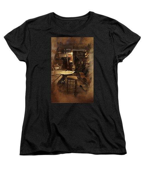 Tobacco Cello Women's T-Shirt (Standard Cut) by Evie Carrier