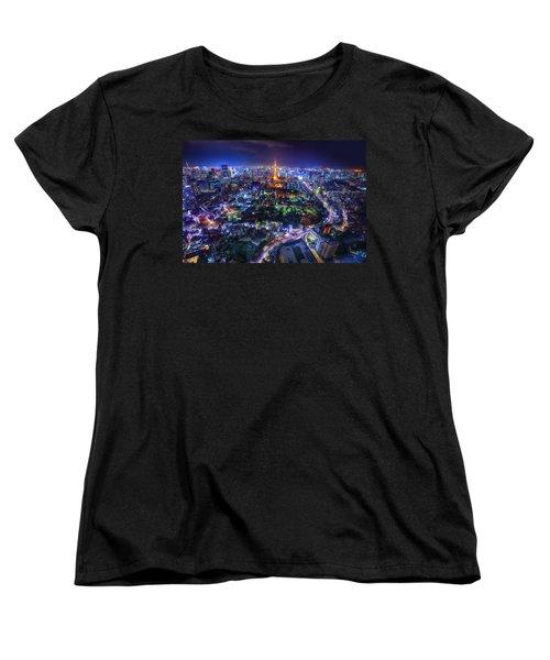 Tokyo Dreamscape Women's T-Shirt (Standard Cut) by Midori Chan