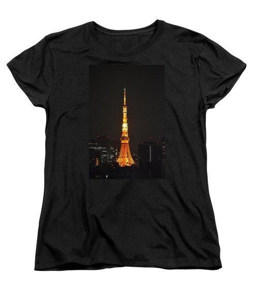 Tokyo Tower And Skyline At Night From Shinagawa Women's T-Shirt (Standard Cut)