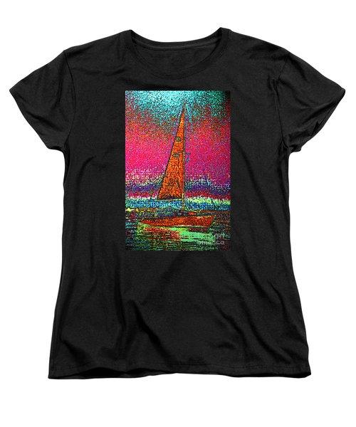 Tom Ray's Sailboat 3 Women's T-Shirt (Standard Cut) by First Star Art