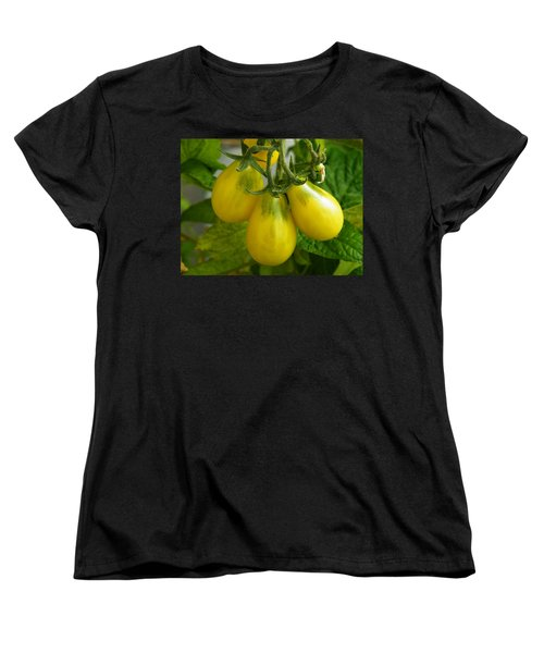 Tomato Triptych Women's T-Shirt (Standard Cut) by Brian Boyle