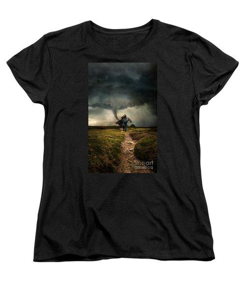 Tornado Women's T-Shirt (Standard Cut) by Jaroslaw Blaminsky
