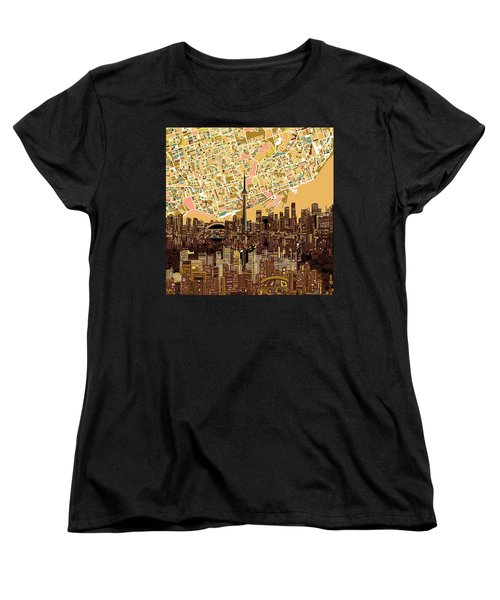 Toronto Skyline Abstract 9 Women's T-Shirt (Standard Cut) by Bekim Art