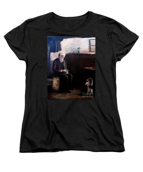 Women's T-Shirt (Standard Cut) featuring the painting Tough Times by Hazel Holland