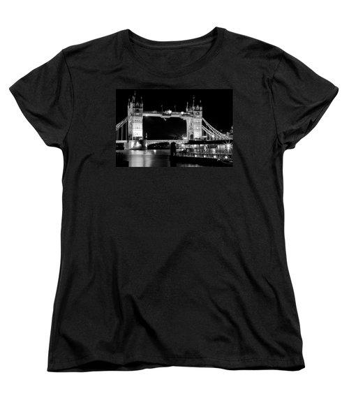 Women's T-Shirt (Standard Cut) featuring the photograph Tower Bridge At Night by Maj Seda