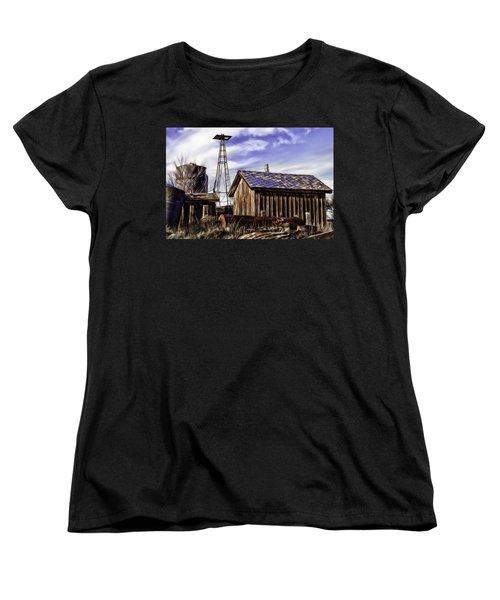 Women's T-Shirt (Standard Cut) featuring the painting Tower by Muhie Kanawati