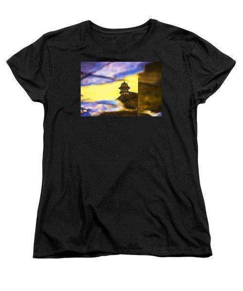 Tower Reflection Women's T-Shirt (Standard Cut) by Prakash Ghai